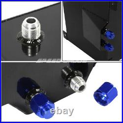 10 Gallon/38l Black Aluminum Fuel Cell Gas Tank+level Sender+steel Fuel Line Kit