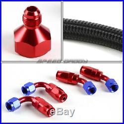 10 Gallon/38l Red Aluminum Fuel Cell Gas Tank+level Sender+nylon Fuel Line Kit