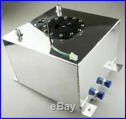 10 Gallon 40l Lightweight Polished Aluminum Race Drift Fuel Cell Tank+sender