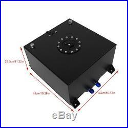 10 Gallon Aluminum Alloy Fuel Cell Gas Tank Level Sender Auto Vehicle Accessory