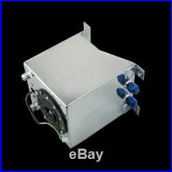 10L Aluminium Fuel Surge tank mirror polish Fuel cell with foam inside/sensor