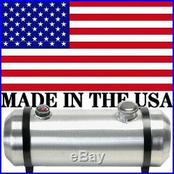 10X33 Spun Aluminum Gas Tank 10.75 Gallons With Sight Gauge Two Baffles End Fill