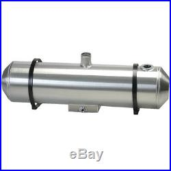 10X33 Spun Aluminum Gas Tank With Sump, Remote Filler Neck, And Sender Flange