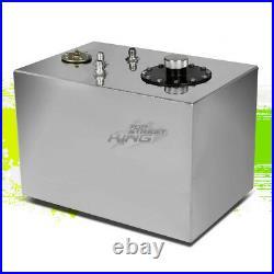 12 Gallon Lightweight Polished Aluminum Gas Fuel Cell Tank+ Sender 17.75x12x12