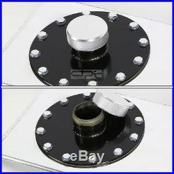 12 Gallon Top-feed Polished Aluminum Race Drift Fuel Cell Tank+cap+level Sender