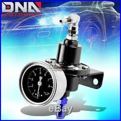 15.5 Gallon/58l Aluminum Fuel Cell Tank+oil Feed Line+pressure Regulator Black