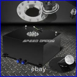 15.5 Gallon/59l Black Coat Aluminum Fuel Cell Tank+level Sender+45 Filler Neck