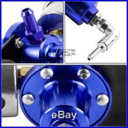 15.5 Gallon Aluminum Fuel Cell Tank+cap+oil Feed Line+pressure Regulator Blue