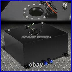 15.5 Gallon Black Coated Aluminum Racing/drift Fuel Cell Gas Tank+level Sender