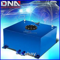15.5 Gallon Light Performance Blue Coated Aluminum Fuel Cell Tank+level Sender