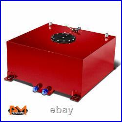 15.5 Gallon Lightweight Aluminum Red Fuel Cell/Gas Tank+Level Sender Black Cap