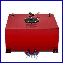 15.5 Gallon Lightweight Red Coat Aluminum Racing Fuel Cell Tank+level Sender