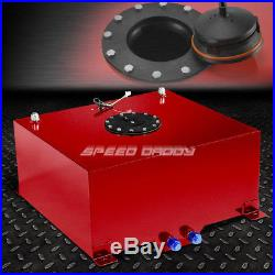 15.5 Gallon Red Coated Aluminum Racing/drift Fuel Cell Gas Tank+level Sender