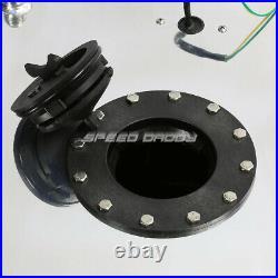 15 Gallon/57l Aluminum Fuel Cell Tank+feed Line Kit+pressure Regulator Silver