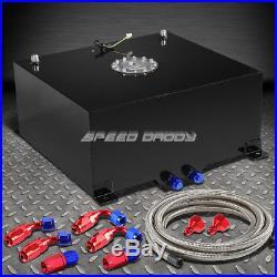 15 Gallon/57l Black Aluminum Fuel Cell Gas Tank+level Sender+steel Fuel Line Kit