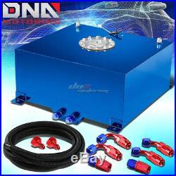 15 Gallon/57l Blue Aluminum Fuel Cell Gas Tank+level Sender+nylon Oil Feed Kit