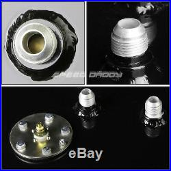 15 Gallon/57l Top-feed Black Aluminum Racing Fuel Cell Gas Tank+cap+level Sender