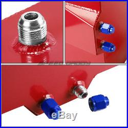 15 Gallon Aluminum Fuel Cell Tank+cap+feed Line Kit+30 Micron Inline Filter Red