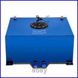 15 Gallon Lightweight Blue Coat Aluminum Race Drift Fuel Cell Tank+level Sender