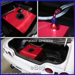 15 Gallon Red Aluminum Fuel Cell Gas Tank+cap+level Sender+nylon Fuel Line Kit