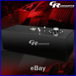 15 Gallon Top-feed Black Coat Aluminum Gas Fuel Cell Tank+cap+level Sender+foam
