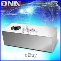 15 Gallon Top-feed Performance Polished Aluminum Fuel Cell Tank+cap+level Sender