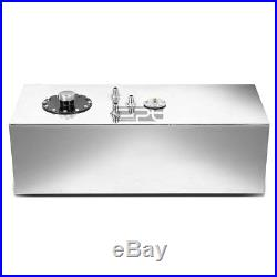15 Gallon Top-feed Polished Aluminum Race Drift Fuel Cell Tank+cap+level Sender