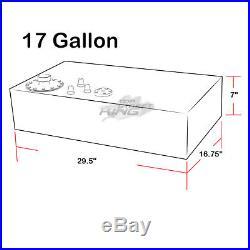 17 GALLON LIGHTWEIGHT BLACK ALUMINUM GAS FUEL CELL TANK+ SENDER 30x17x7