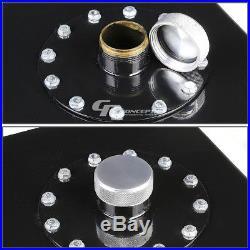 17 Gallon Top-feed Black Coat Aluminum Gas Fuel Cell Tank+cap+level Sender+foam