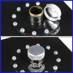 17 Gallon Top-feed Black Coated Aluminum Fuel Cell Tank/2 Sump+cap+level Sender
