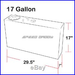 17 Gallon Top-feed Slim Aluminum Fuel Cell Gas Tank+level Sender+nylon Line Kit