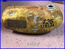 1974 74 yamaha yz yz125 vintage AHRMA motocross aluminum yz125a fuel gas tank