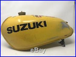 1976 1977 Suzuki RM125 GAS FUEL TANK CELL PETROL VINTAGE ALUMINIUM RM 125