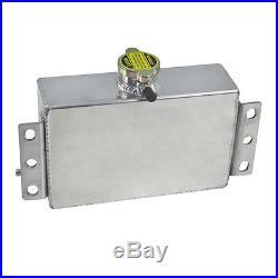 1L Universal Aluminum Coolant Overflow Expansion Reservoir Oil Fuel Tank Can UK