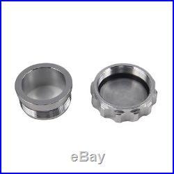 2 Aluminium Weld On Filler Neck Cap Oil Fuel Water Tank Silver