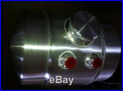 2 Gal. Spun Aluminum 1932 Ford Front Mount Fuel Tank Moon eyes Brackets Work