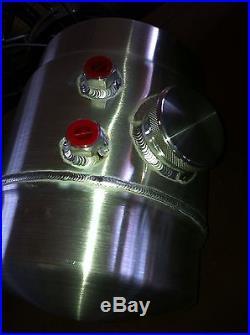 2 Gal. Spun Aluminum Fuel Tank & Bracket Gasser Style Hot Rod Vintage Racing