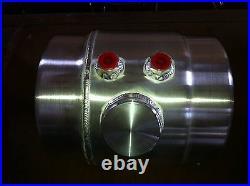 2 Gal. Spun Aluminum Vintage Gasser Fuel Injection Tank And Brackets