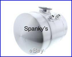 2 Gal. Spun Aluminum Vintage Gasser Fuel Injection Tank Moon eyes Brackets Work