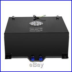 20 Gallon/76l Lightweight Black Coat Aluminum Race Fuel Cell Tank+level Sender