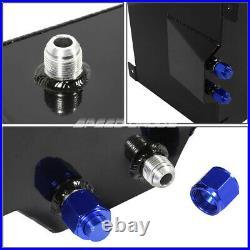 20 Gallon/78l Black Aluminum Fuel Cell Gas Tank+level Sender+steel Fuel Line Kit
