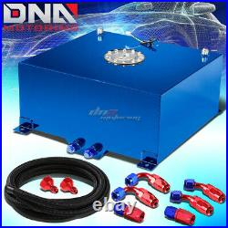 20 Gallon/78l Blue Aluminum Fuel Cell Gas Tank+level Sender+nylon Oil Feed Kit
