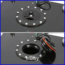 20 Gallon Aluminum Fuel Cell Tank+cap+oil Feed Line+11 Pressure Regulator Black