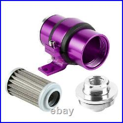 20 Gallon Aluminum Fuel Cell Tank+cap+oil Feed Line+30 Micron Filter Kit Purple