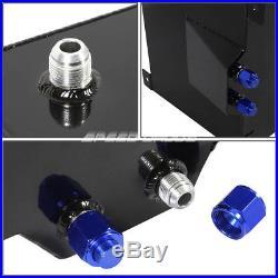 20 Gallon Black Aluminum Fuel Cell Gas Tank+cap+level Sender+steel Fuel Line Kit