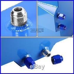 20 Gallon Blue Aluminum Fuel Cell Gas Tank+cap+level Sender+steel Oil Feed Kit