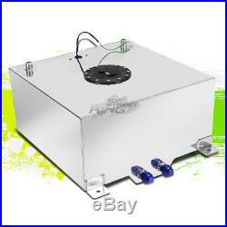 20 Gallon Lightweight Polish Aluminum Gas Fuel Cell Tank+ Sender 19.75x24x10