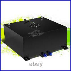 20 Gallon Lightweight Race Black Aluminum Gas Fuel Cell Tank+ Sender 20x24x10