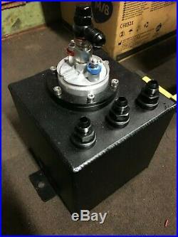 2L Billet High Flow Swirl Fuel Surge Pot Tank AN6 Kit INC 044 External Fuel Pump
