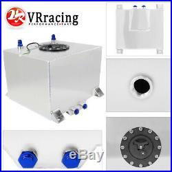 30L Aluminium Fuel tank mirror polish Fuel cell with cap/foam inside with sensor